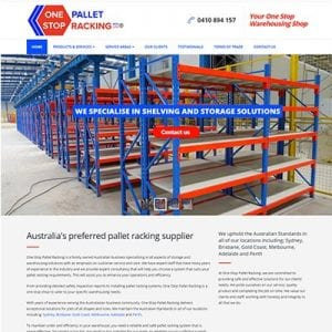 01 One Stop Pallet Racking